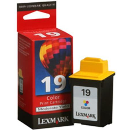 Lexmark No. 19 (15M2619) Moderate Use Color Original Print Cartridge