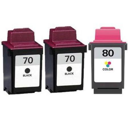 Compatible Multipack Lexmark No.70/No.80 Full Set + 1 EXTRA Black Inkjet Cartridges
