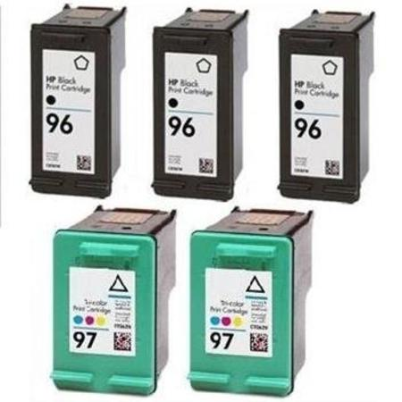 96/97 2 Full set + 1 EXTRA Black Remanufactured Inks