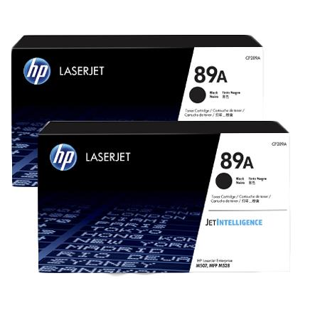 HP 89A (CF289A) Black Original Standard Capacity Toner Cartridges Twin Pack