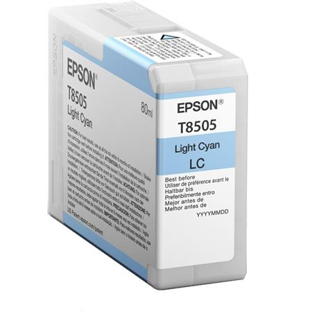 Epson T8505 (T850500) Light Cyan Original UltraChrome HD Ink Cartridge (80 ml)
