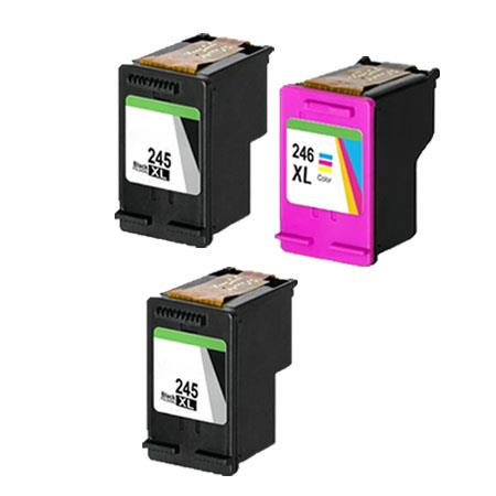 PG-245XL/CL-246XL Full Set + 1 EXTRA Black Remanufactured Ink