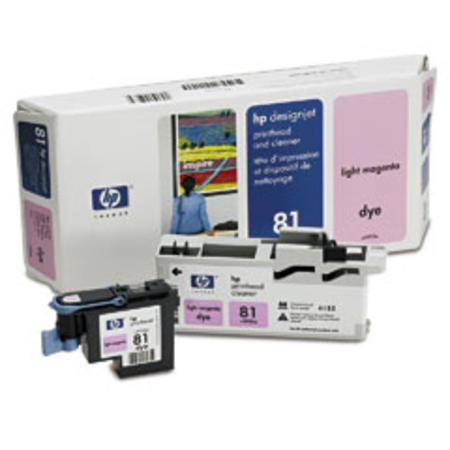 HP 81 Original Light Magenta Dye Printhead and Cleaner (C4955A)