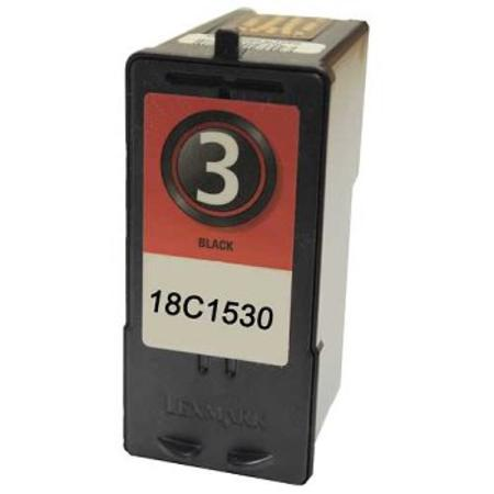 Lexmark No. 3 (18C1530) Black Remanufactured Ink Cartridge