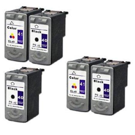 PG-40/CL-41 2 Full Sets + 3 EXTRA Black Remanufactured Inks
