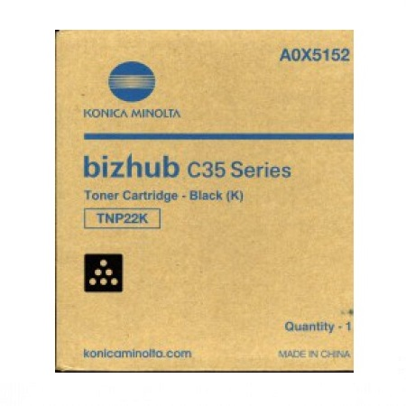 Konica Minolta TNP-22 Black Original Toner Cartridge (A0X5132)