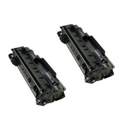 05X Black Remanufactured Toner Cartridges Twin Pack