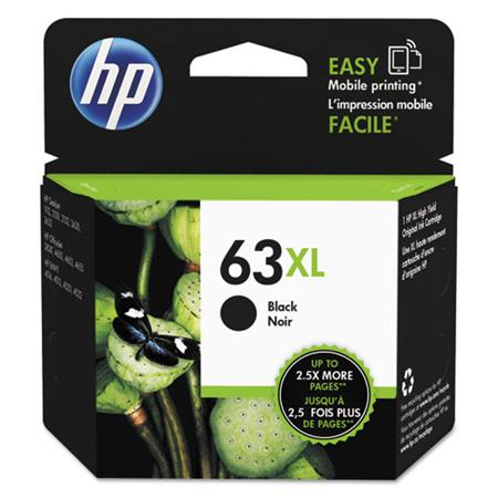 HP 63XL Black Original High Capacity Ink Cartridge (F6U64AN)