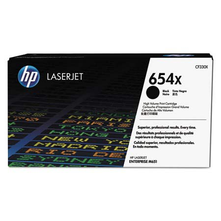 HP 654X Black Original High Capacity Toner Cartridge (CF330X)