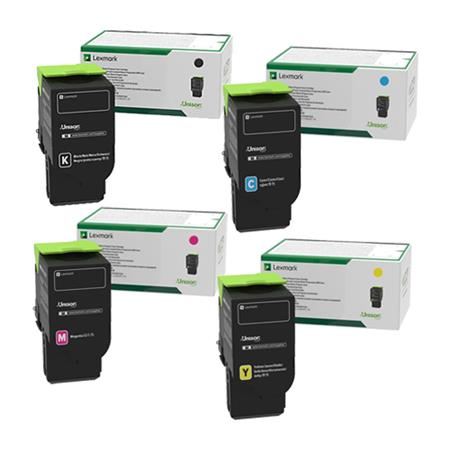 Lexmark 78C10K0/C0/M0/Y0 Full Set Original Standard Capacity Return Program Toner Cartridges