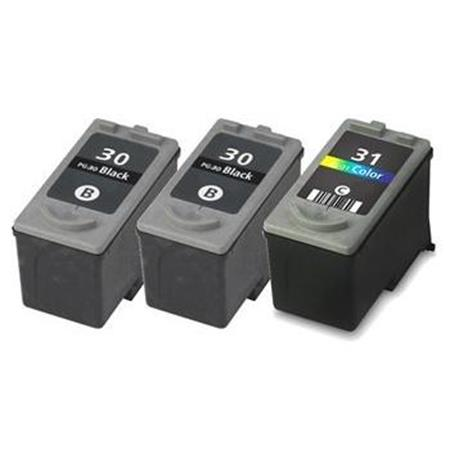 PGI-9 PBK/C/M/Y 2 Full Sets + 3 EXTRA Black Compatible Inks