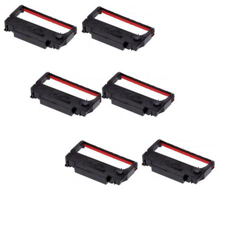 Epson ERC-23 Black and Red Compatible Printer Ribbon (6 Pack)