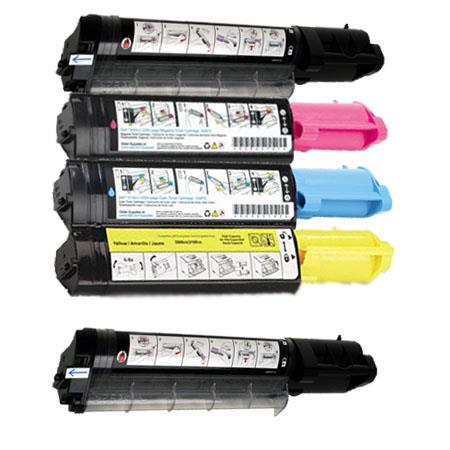 310-5726/5727/5730/5731 Full Set + 1 EXTRA Remanufactured Toners