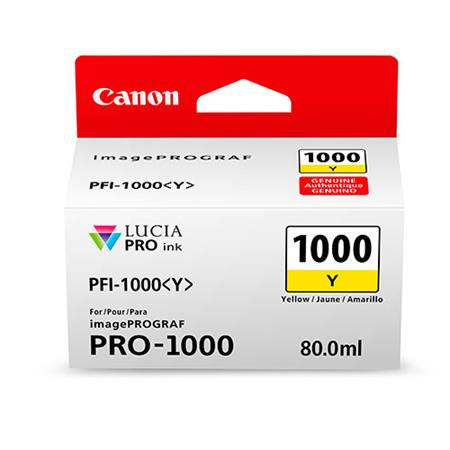 Canon PFI-1000Y Yellow Original Ink Cartridge (0549C001)