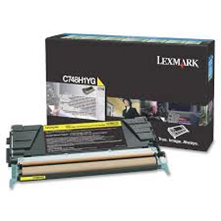 Lexmark C748H1YG Yellow Original High Capacity Return Program Toner Cartridge