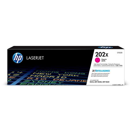 HP 202X Magenta Original High Capacity Toner Cartridge (CF503X)