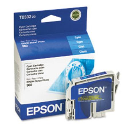 Epson T0332 (T033220) Original Cyan Ink Cartridge