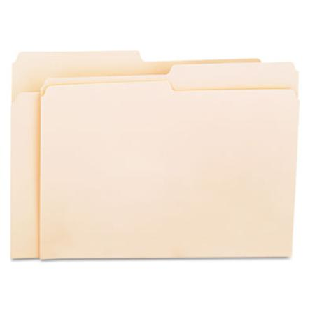 Universal File Folders 1/2 Cut One-Ply Top Tab Letter Manila 100/Box