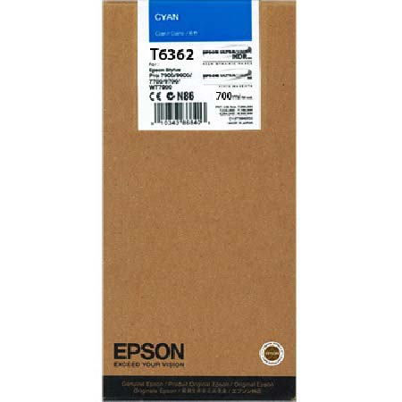 Epson T6362 (T636200) Original  Cyan Ink Cartridge