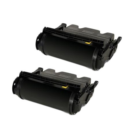 Clickinks T650A21 Black Remanufactured High Capacity Toners Twin Pack