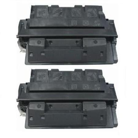 No.61A Black Remanufactured Toner Cartridges Twin Pack
