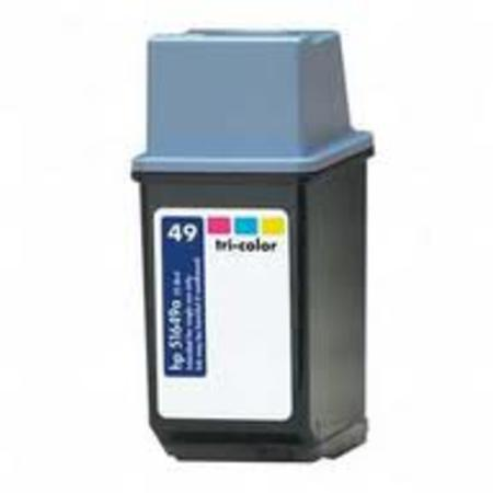 HP 49 TriColor Remanufactured Printer Ink Cartridge (51649A)