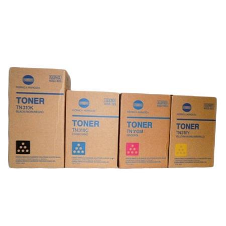 Minolta TN310 K/C/M/Y Full Set Original Toner Cartridges