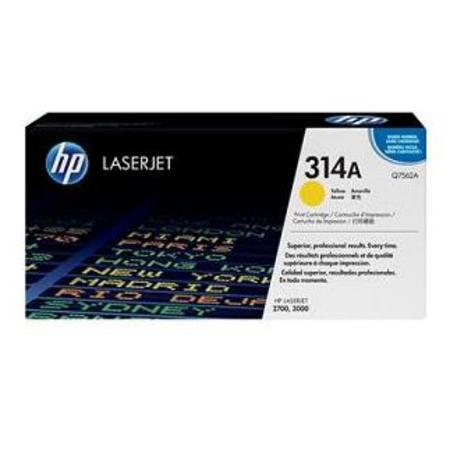 HP Color LaserJet Q7562A Yellow Original Print Cartridge with HP ColorSphere Toner