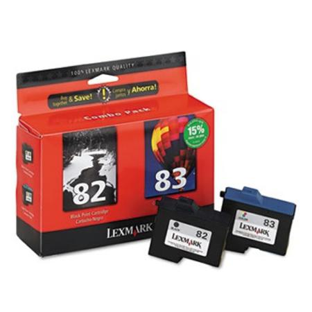 Lexmark No.82-83 (18L0860) Original Black and Tri- Color Ink Cartridges Twin-Pack