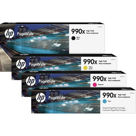 HP 990X Full Set High Capacity Original PageWide Inks