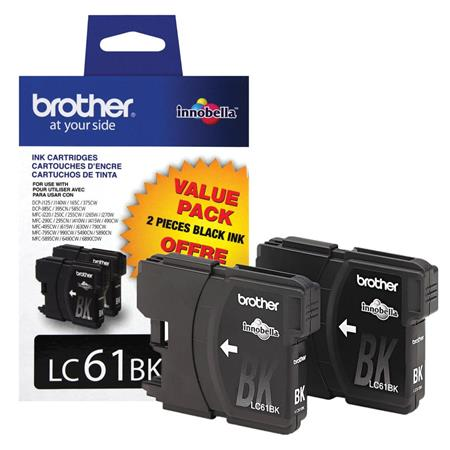 Brother LC612 Original Black Standard Capacity Cartridge Double Pack