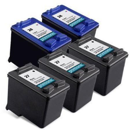 Compatible Multipack HP 27/28 2 Full Sets + 1 EXTRA Black Ink Cartridges