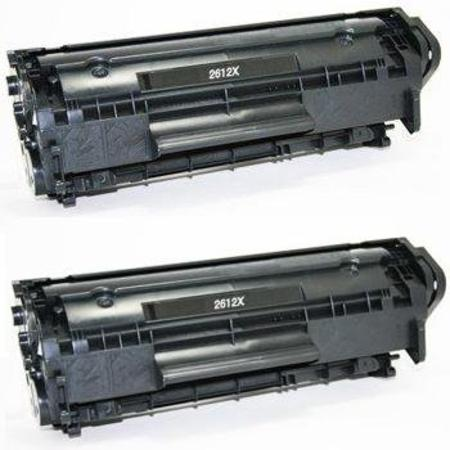 12X Black Remanufactured Toner Cartridges Twin Pack