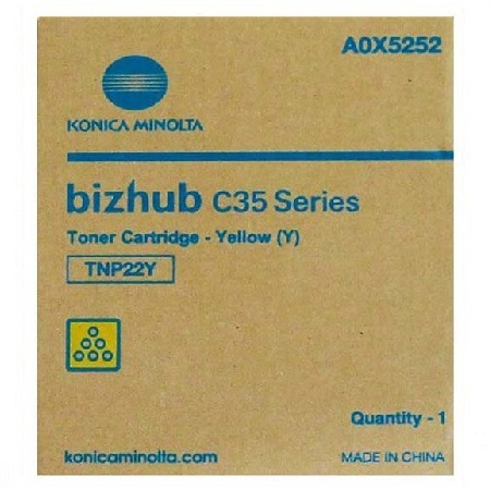 Konica Minolta TNP-22 Yellow Original Toner Cartridge (A0X5232)