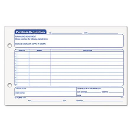 Tops Purchase Requisition Form