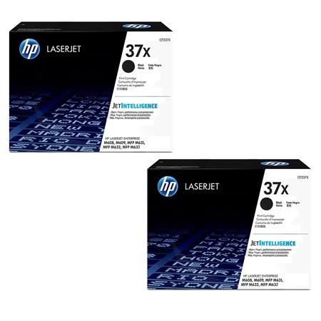 HP 37X Black Original High Capacity Toner Cartridges Twin Pack