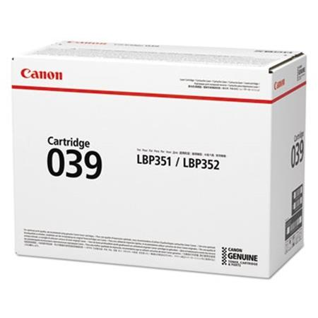 Canon 039BK Black Original Standard Capacity Toner Cartridge (0287C001AA)