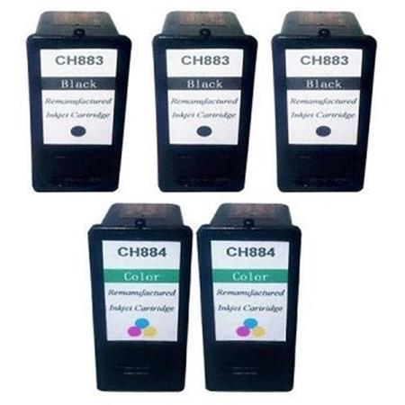 CH883/CH884 2 Full Set + 1 EXTRA Remanufactured Ink