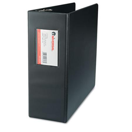 Universal D-Ring Binder with Label Holder 4in Capacity Black
