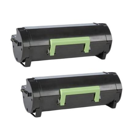 Compatible Twin Pack Black Lexmark 50F1X00 (501X) Toner Cartridges
