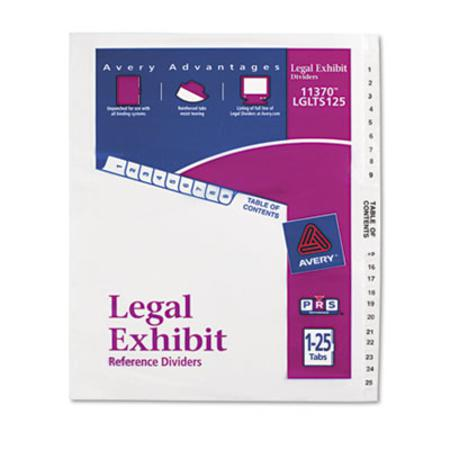 Avery Avery-Style Legal Side Tab Divider  Title: 1-25  Letter  White  1 Set