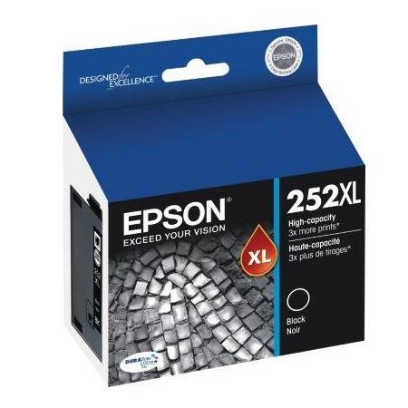 Epson T252XL Black Original High Yield Ink Cartridge (T252XL120)