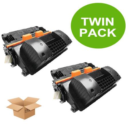 81X Black Remanufactured Toner Cartridges Twin Pack