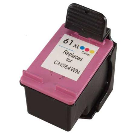 HP 61XL Tri-Color Remanufactured High Yield Ink Cartridge (CH564WN)