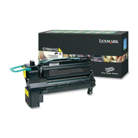 Lexmark C792A1YG Original Yellow Standard Capacity Return Program Toner Cartrigde
