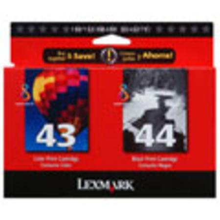 Lexmark Twin-Pack No. 44XL and No. 43XL (18Y0372) Black and Color Original Print Cartridges