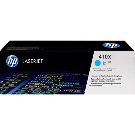 HP 410X (CF411X) Cyan Original High Capacity Toner Cartridge