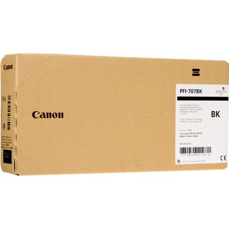 Canon PFI-707BK Black Original High Capacity Ink Cartridge (700ml)