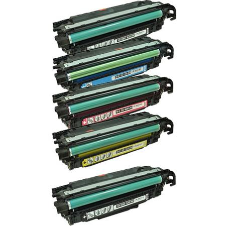 CE250A/53A Full Set + 1 EXTRA Black Remanufactured Toner Cartridge