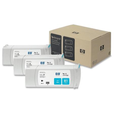 HP 81 (C5067A) Original Cyan Ink Cartridge (3 Pack)
